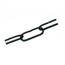 Cadena en acabado negro, eslabón ↔ 45 mm. SOLO SE VENDEN METROS COMPLETOS.
