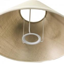 120PCR-DIA - Lámpara de sobremesa, en acabado cromo, con pantalla cilíndrica en tela negra, con cristales.