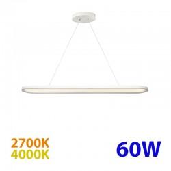 Lámpara de techo LED, Serie Scale, armazón metálico en acabado blanco, con difusor acrílico, 60W
