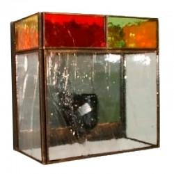 Aplique de pared, estilo granadino, 1 luz, con cristales transparentes o gótico (imagen).