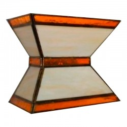 Aplique de pared, estilo granadino, 1 luz, con cristales transparentes o góticos.