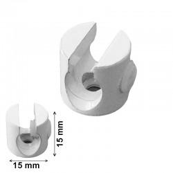 Presacables metálico en varios acabados Ø15x15mm. Para cable de plancha.